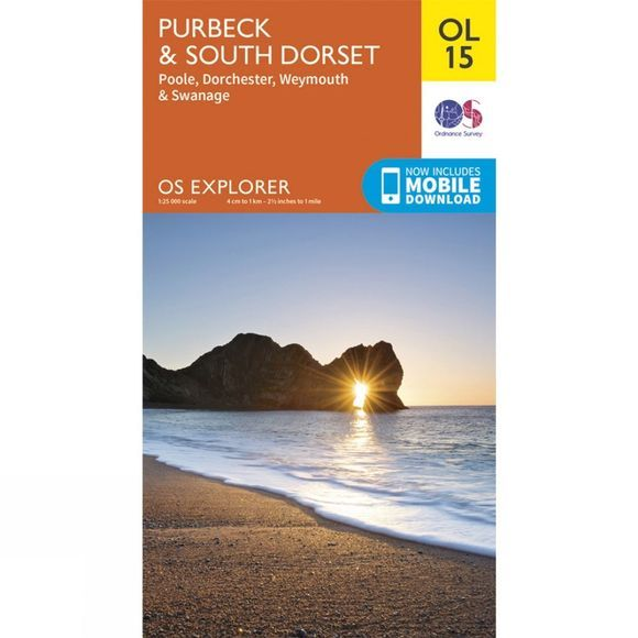 Ordnance Survey Explorer Map OL15 Purbeck and South Dorset V15