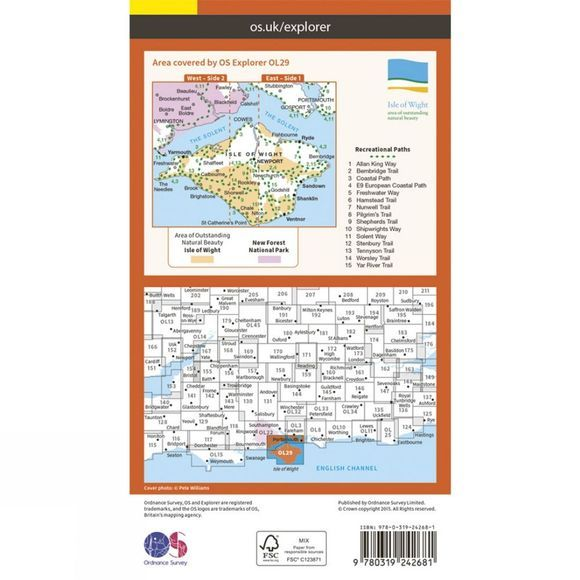 Explorer Map OL29 Isle of Wight