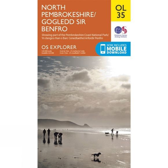 Ordnance Survey Explorer Map OL35 North Pembrokeshire V15
