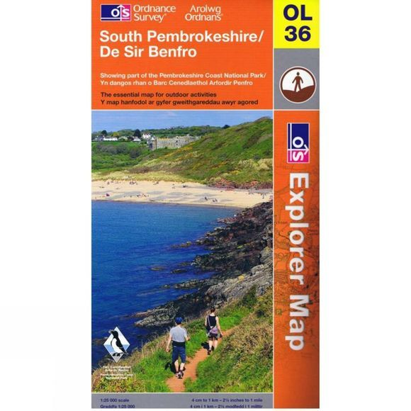 Explorer Map OL36 South Pembrokeshire