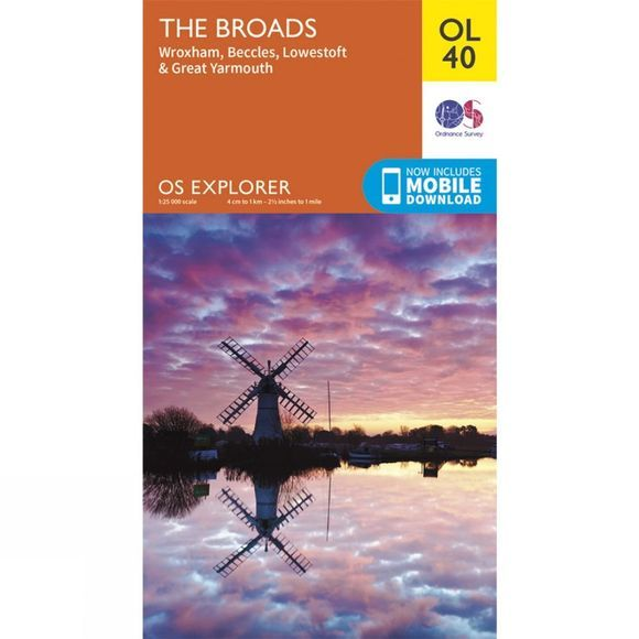 Ordnance Survey Explorer Map OL40 The Broads V15
