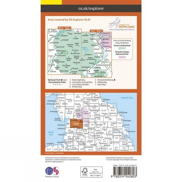 Explorer Map OL41 Forest of Bowland and Ribblesdale