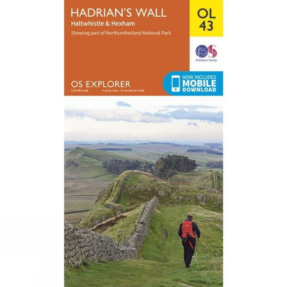 Ordnance Survey Explorer Map OL43 Hadrian's Wall V15