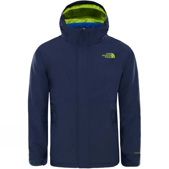 The North Face Boys Boundary Triclimate Jacket Cosmic Blue/Lime Green