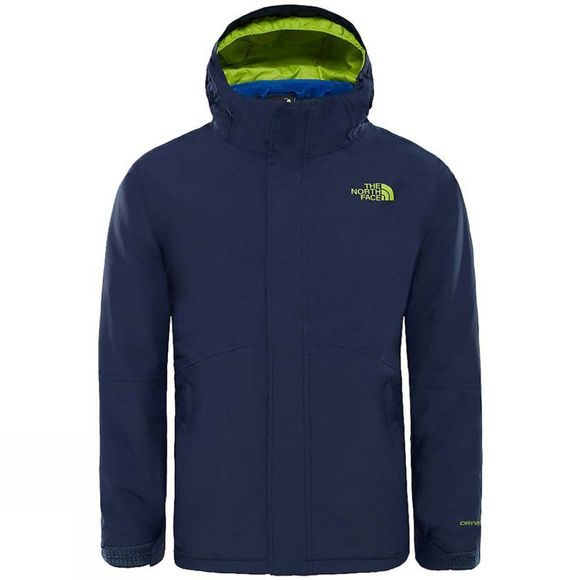 The North Face Boundary Triclimate Jacket Age 14+ Cosmic Blue/Lime Green