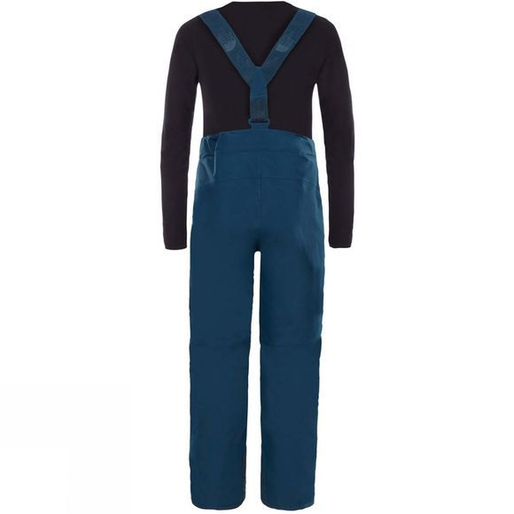 The North Face Youth Snowquest Suspender Plus Pants Blue Wing Teal
