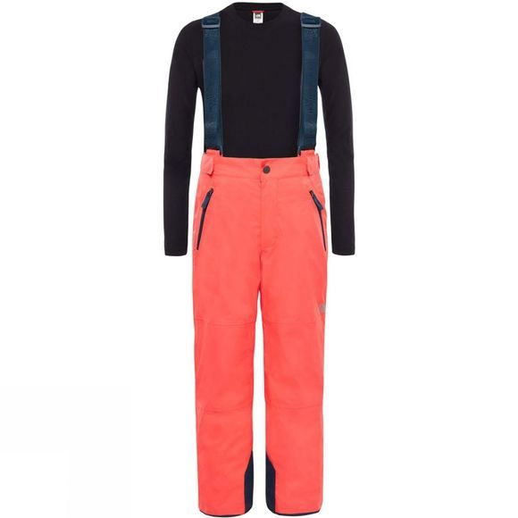 The North Face Youth Snowquest Suspender Plus Pants Rocket Red