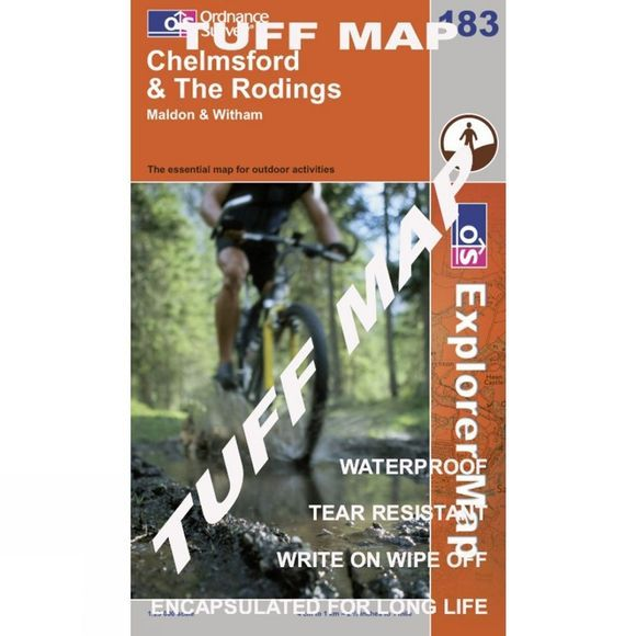 TUFF Explorer Map 183 Chelmsford and The Rodings