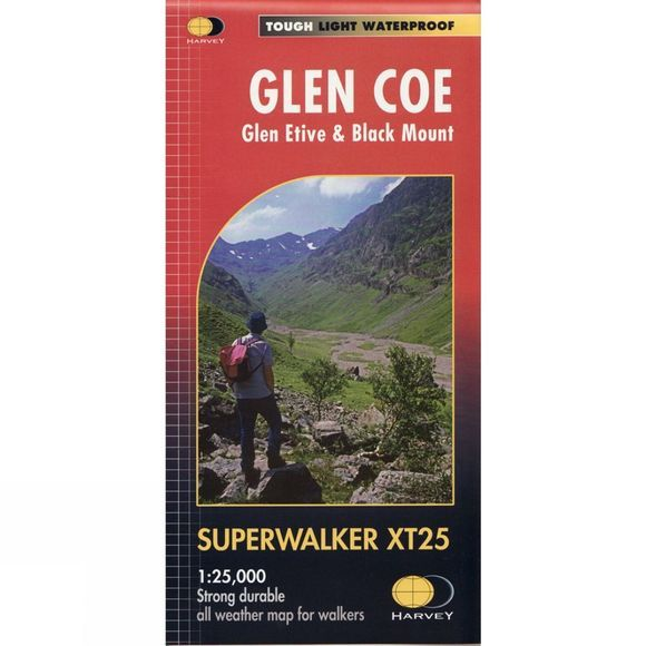 Glen Coe Glen Etive & Black Mount Map 1:25K