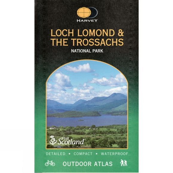 Harvey Maps Loch Lomond & The Trossachs Outdoor Atlas No Colour