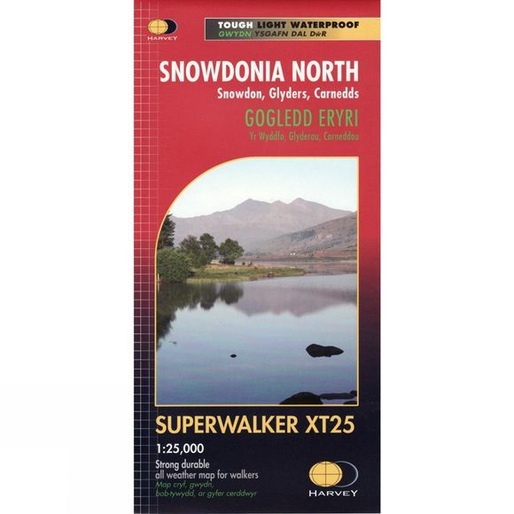Harvey Maps Snowdonia North Map 1:25K No Colour