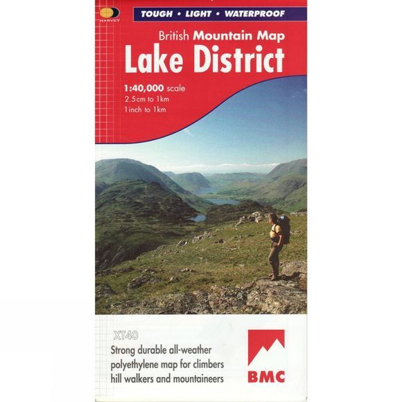 Harvey Maps Lake District British Mountain Map 1:40K No Colour