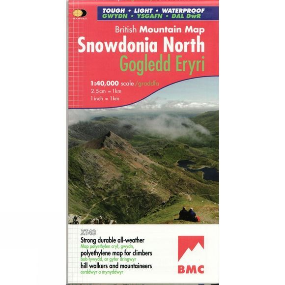 Harvey Maps Snowdonia North British Mountain Map 1:40K No Colour