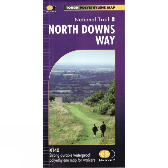 Harvey Maps North Downs Way Map 1:40K No Colour