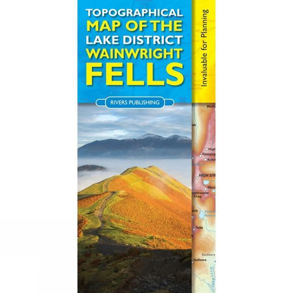 Rivers Publishing Topographical Map of the Lake District Wainwright Fells 1st Edition, 2014