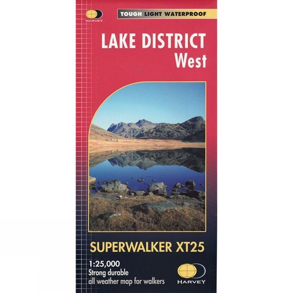 Harvey Maps Lake District West Superwalker Map 1:25K 01/03/2015