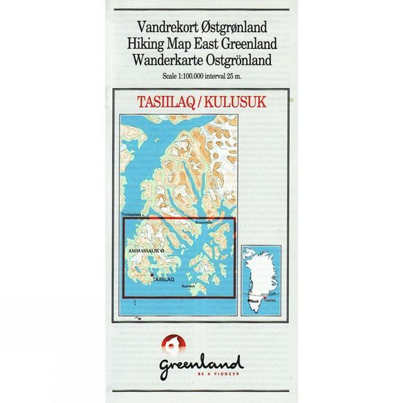 Hiking Map East Greenland: Tasiilaq