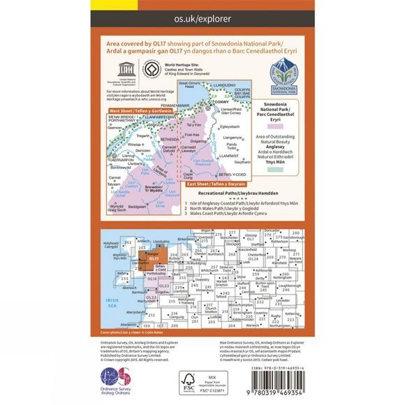 Active Explorer Map OL17 Snowdon and Conwy Valley