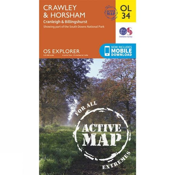 Active Explorer Map OL34 Crawley and Horsham
