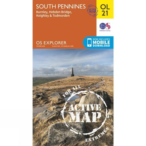 Active Explorer Map OL21 South Pennines