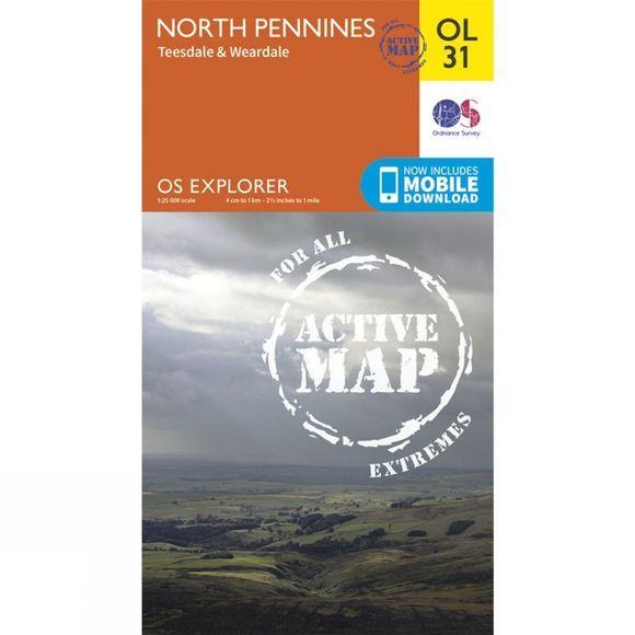 Active Explorer Map OL31 North Pennines