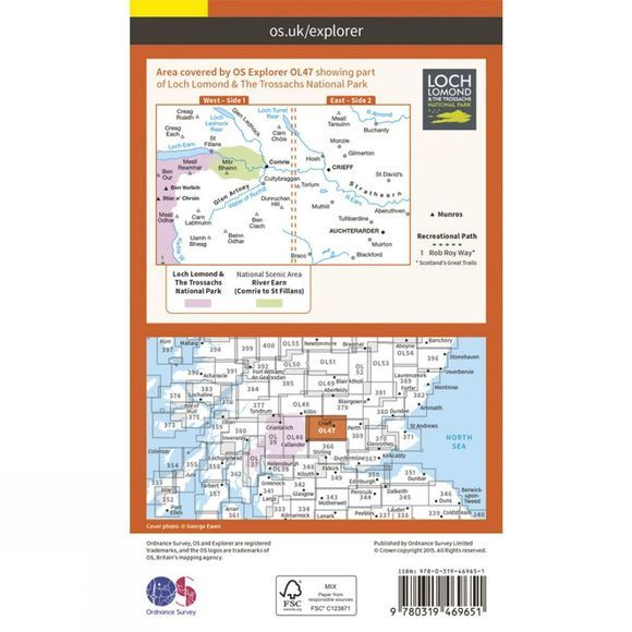 Active Explorer Map OL47 Crieff, Comrie and Glen Artney