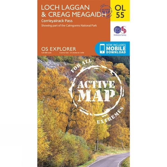 Ordnance Survey Active Explorer Map OL55 Loch Laggan and Creag Meagaidh V15