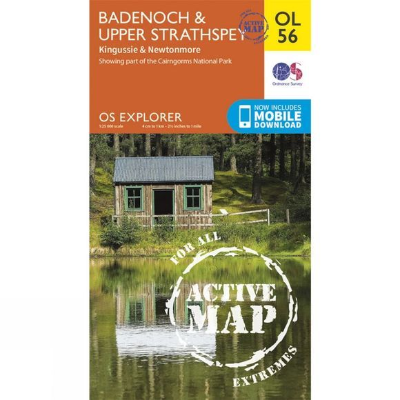 Ordnance Survey Active Explorer Map OL56 Badenoch and Upper Strathspay V15