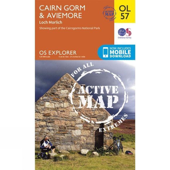 Ordnance Survey Active Explorer Map OL57 Cairn Gorm and Aviemore V15