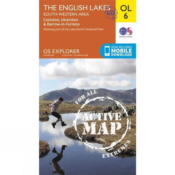 Active Explorer Map OL6 The Lake District - South-Western Area