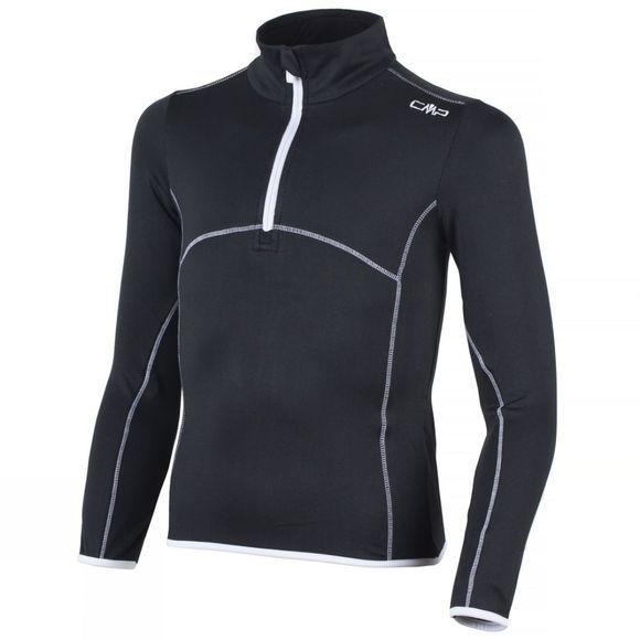 Campagnolo Girls Stretch Fleece 1/4 Zip Age 14+ Nero/Bianco
