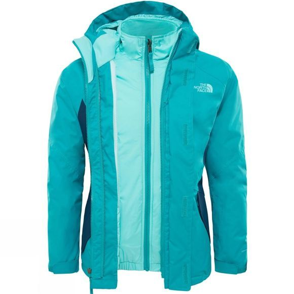 The North Face Kira Triclimate Jacket Age 14+ Kokomo Green
