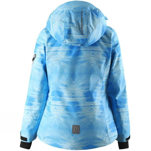Reima Girls Frost Print Jacket 14+ Icy Blue Mountain Print