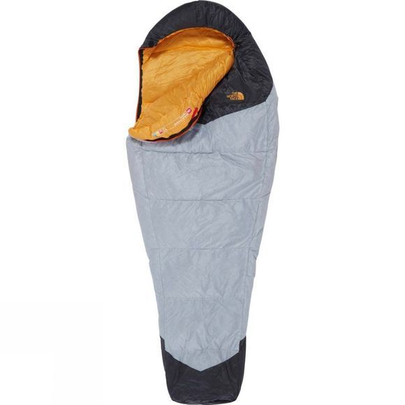 The North Face Gold Kazoo Sleeping Bag Long High Rise Grey/Radiant Yellow