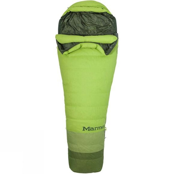 Marmot Mens Never Winter TL Sleeping Bag Macaw Green/Peridot