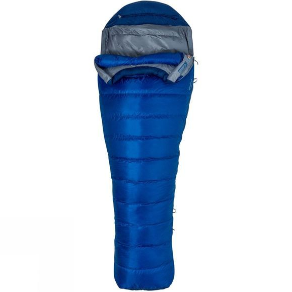 Marmot Mens Sawtooth Long Sleeping Bag Surf/Arctic Navy