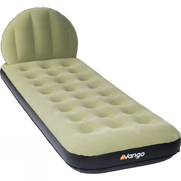 Vango Airhead Single Flocked Airbed Green