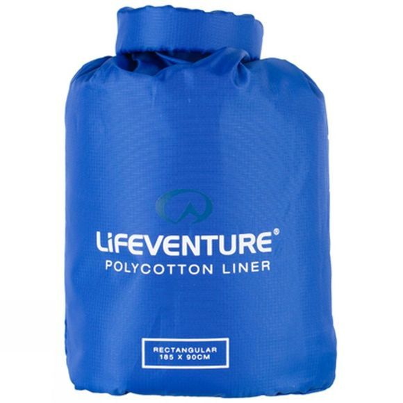 Lifeventure Polycotton Rectangular Sleeping Bag Liner Navy