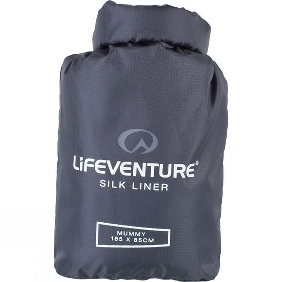 Lifeventure Silk Sleeping Bag Liner Mummy Grey