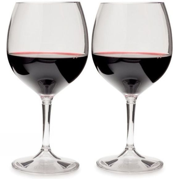 GSI Outdoors Nesting Red Wine Glass Set Natural