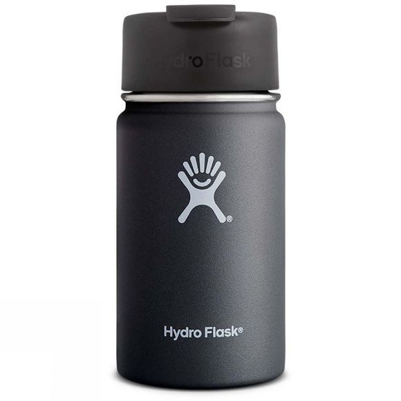 Hydro Flask Wide Mouth 12oz Coffee Flask with Flip Lid Black