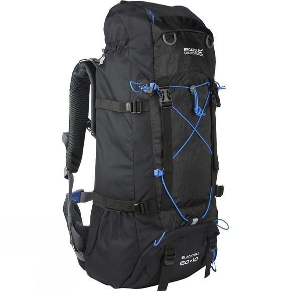 Regatta Blackfell II 60L+10L Rucksack Black / French Blue