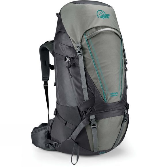 Lowe Alpine Womens Diran ND60:70 Rucksack Greystone / Iron Grey