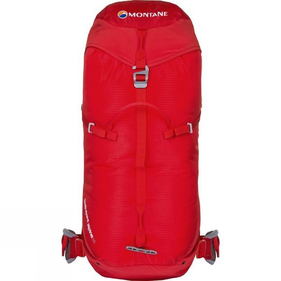 Montane Featherlite Alpine 35 Rucksack Flag Red/Cloudburst Grey