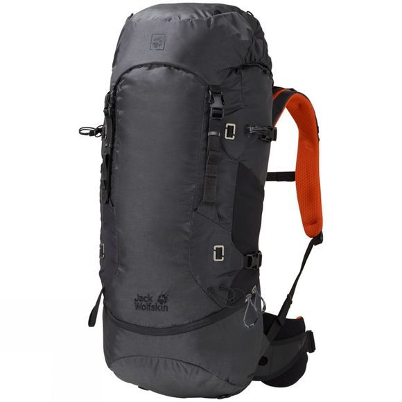Jack Wolfskin EDS Dynamic 48 Rucksack Phantom/Volcano Orange