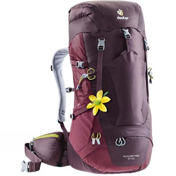 Deuter Women's Futura Pro 34SL Backpack Aubergine-Maroon
