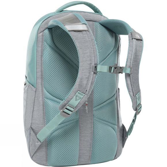 The North Face Womens Vault Rucksack Mid Grey Light Heather/Trellis Green