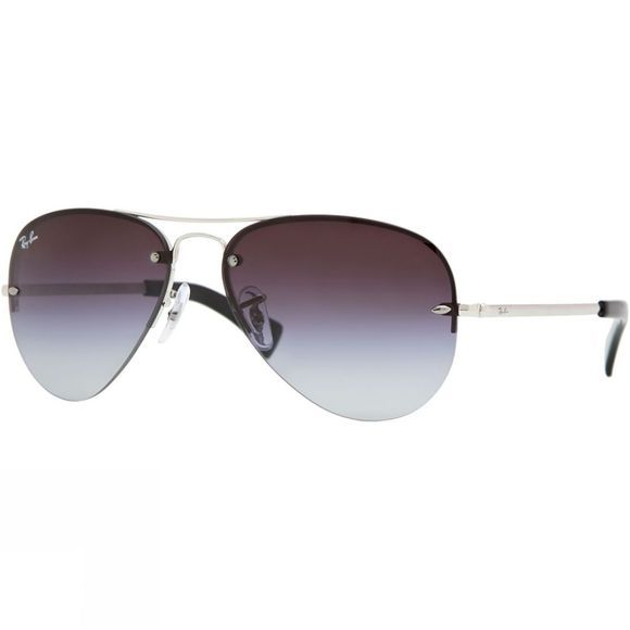 Ray Ban Aviator Sunglasses Silver/Grey