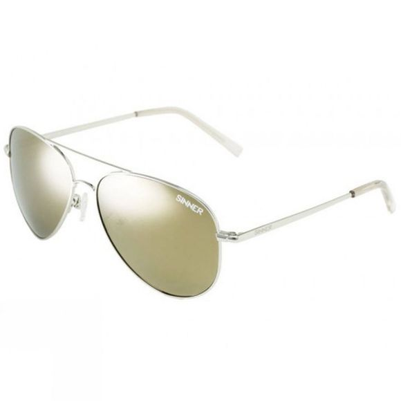 Sinner Morin Sunglasses Silver Metal/Brown Gold Mirror