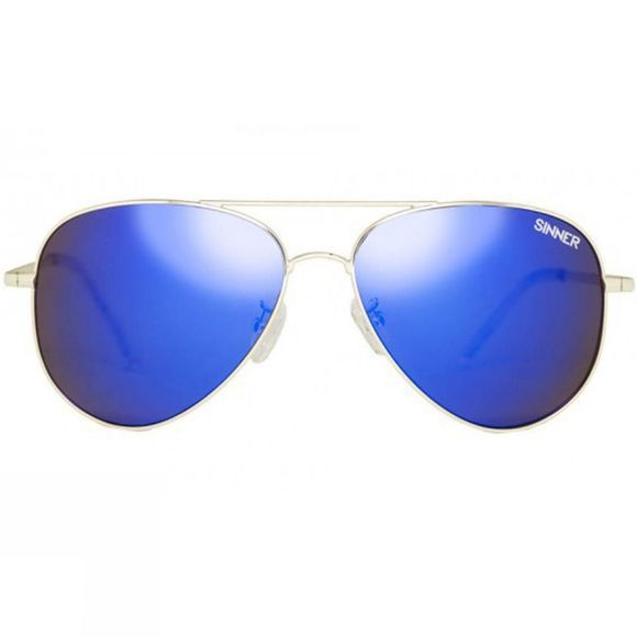 Sinner Morin Sunglasses Gold Metal/Brown Blue Mirror